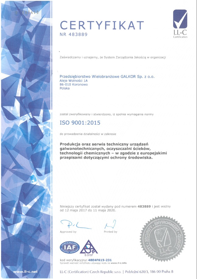 Galkor ISO 9001